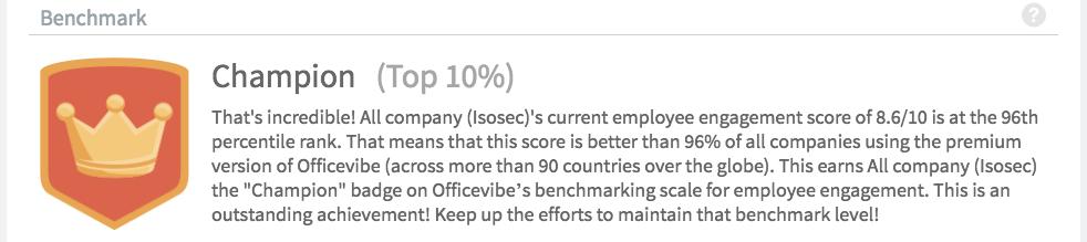Isosec employee engagement company culture