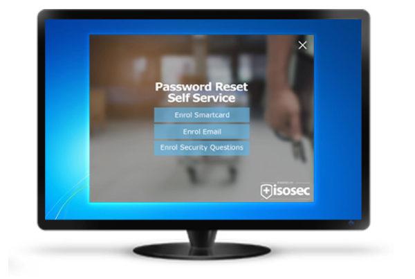 Password Reset Self Service NHS Screen
